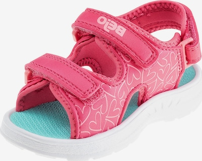 BEjO Sandals in Turquoise / Light pink / White, Item view