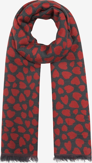 CODELLO Schal in dunkelgrau / rot, Produktansicht