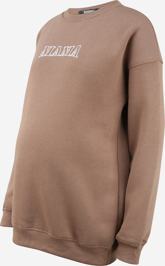 Missguided Maternity Sportisks džemperis, krāsa - brūns / balts, Preces skats