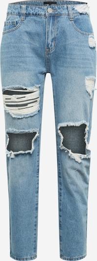 Jeans Mennace pe denim albastru, Vizualizare produs