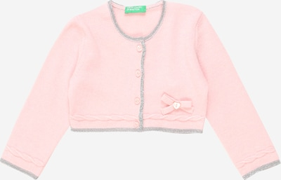 UNITED COLORS OF BENETTON Strickjacke in rosa / silber, Produktansicht