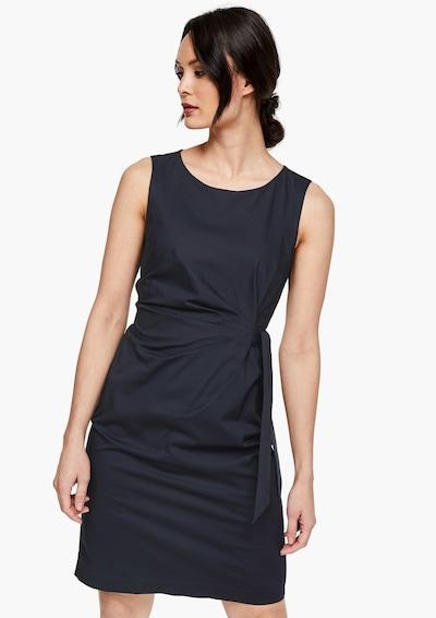 s.Oliver BLACK LABEL Popeline-Kleid in navy, Modelansicht