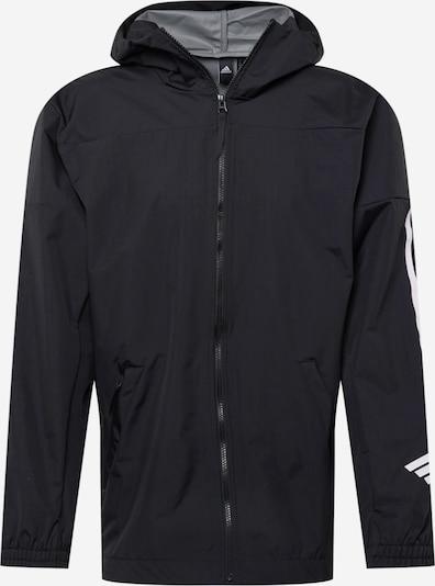 ADIDAS PERFORMANCE Спортно яке в черно / бяло, Преглед на продукта