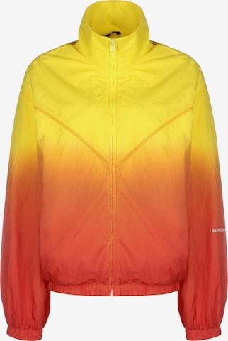 Calvin Klein Jeans Between-Season Jacket 'Dip Dye' in Yellow