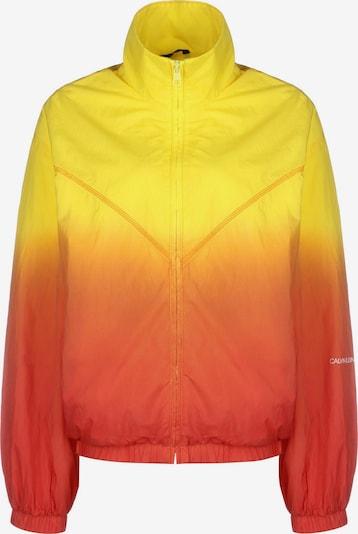 Calvin Klein Jeans Between-Season Jacket 'Dip Dye' in Yellow / Orange / White, Item view