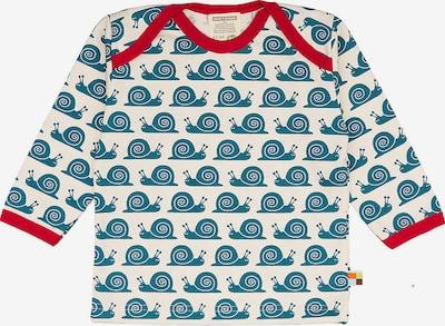 loud + proud Shirt in blue denim / rot / offwhite, Produktansicht