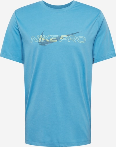 NIKE Sportshirt in hellblau / dunkelblau / weiß, Produktansicht