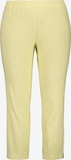 Ulla Popken Broek in de kleur Geel / Wit, Productweergave