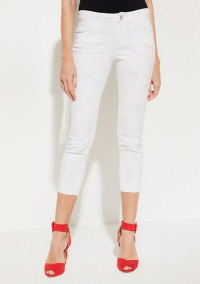 COMMA Hose in weiß, Modelansicht
