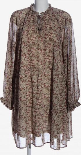 ICHI Langarmkleid in L in creme / braun / rot, Produktansicht