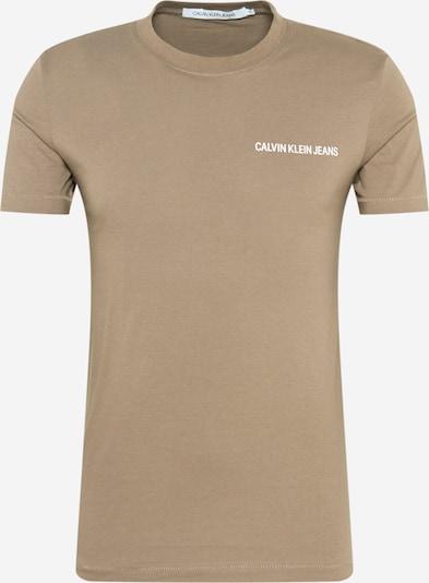 Calvin Klein Jeans Tričko - světle hnědá / bílá, Produkt