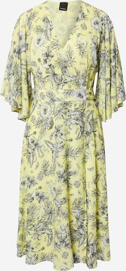 PINKO Vestido 'VOLA ALTO' en amarillo pastel / verde oscuro / negro / blanco, Vista del producto