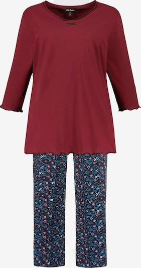 Ulla Popken Pyjama en mélange de couleurs / rouge foncé, Vue avec produit