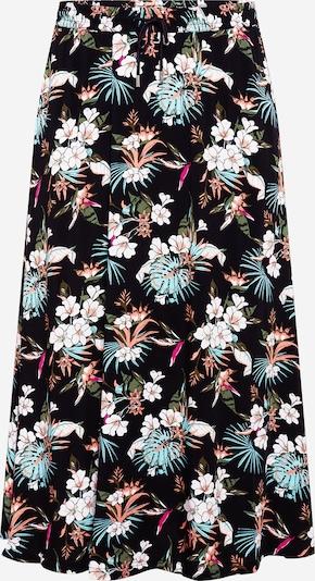 Urban Classics Curvy Rok in de kleur Gemengde kleuren / Zwart, Productweergave