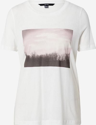 VERO MODA T-shirt en chocolat / rosé / blanc, Vue avec produit