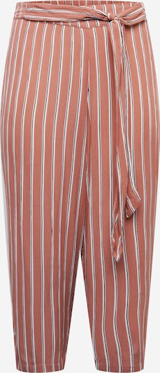 ABOUT YOU Curvy Pants 'Delia' in Auburn / White, Item view