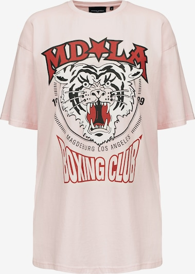 Magdeburg Los Angeles T-Shirt 'BOXING CLUB' in hellpink / rot / schwarz / weiß, Produktansicht