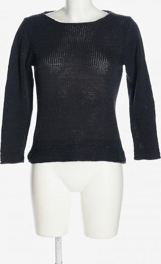 Piú & Piú Rundhalspullover in S in schwarz, Produktansicht