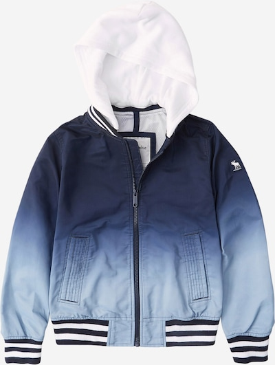 Abercrombie & Fitch Veste mi-saison en bleu / bleu nuit / bleu clair / blanc, Vue avec produit