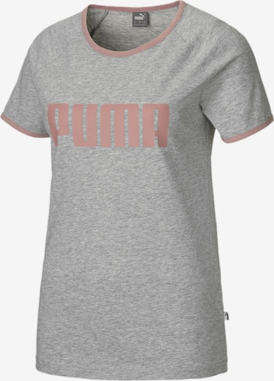 PUMA T-Shirt in graumeliert / lachs, Produktansicht