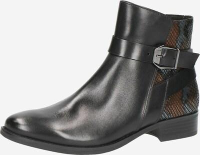CAPRICE Enkellaarsjes in de kleur Brons / Zwart / Zilver, Productweergave