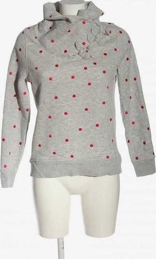 ONLY Sweatshirt in S in hellgrau / rot, Produktansicht