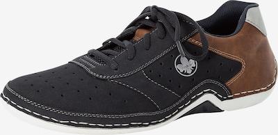 Sneaker low RIEKER pe albastru noapte / maro caramel / alb, Vizualizare produs