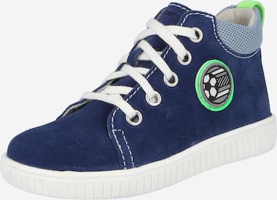 RICHTER Сникърси в нейви синьо / светлосиньо / неоново зелено / черно / бяло, Преглед на продукта
