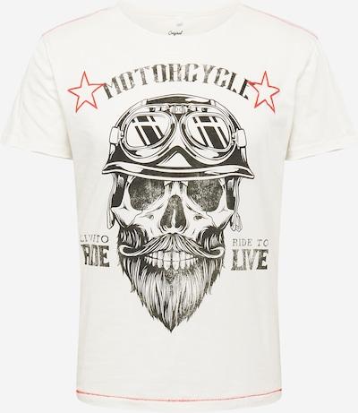 Key Largo T-Shirt 'BEARDED BIKER' en gris foncé / rouge / blanc, Vue avec produit