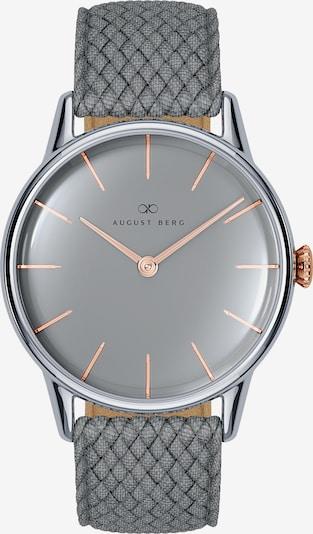 August Berg Analoog horloge in de kleur Grijs, Productweergave