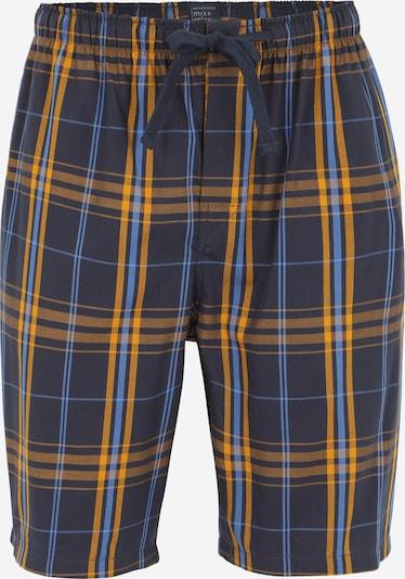 SCHIESSER Pyjamahose in navy / royalblau / cognac, Produktansicht