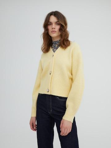 EDITED Πλεκτή ζακέτα 'Susan' σε κίτρινο