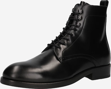 Hudson London Lace-Up Boots 'Yew' in Black