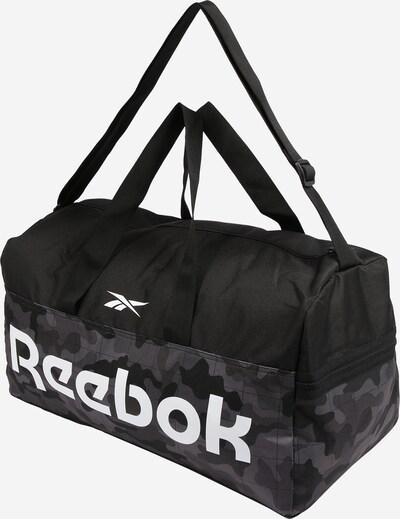 REEBOK Športna torba | siva / temno siva / črna / bela barva, Prikaz izdelka