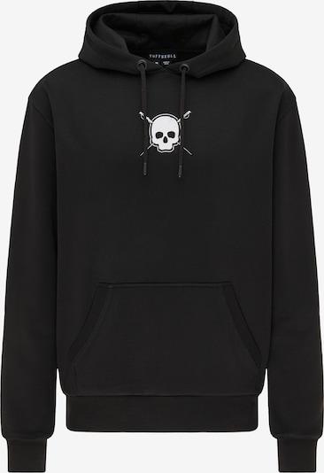 TUFFSKULL Sweat-shirt en noir / blanc, Vue avec produit