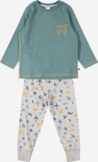 Pijamale SANETTA pe bleumarin / albastru pastel / galben citron / gri deschis, Vizualizare produs