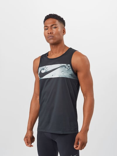 NIKE Functional shirt 'Legend' in Smoke blue / Light grey / Black, View model