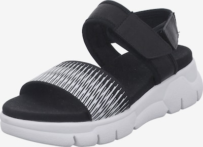 GERRY WEBER SHOES Sandale 'Arzignano ' in schwarz / weiß, Produktansicht