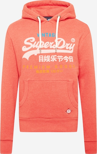 Superdry Sweat-shirt en mélange de couleurs / rouge chiné, Vue avec produit