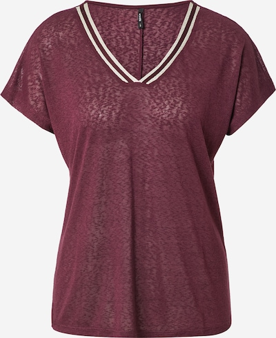 ONLY Tričko 'RILEY' - vínově červená / bílá, Produkt
