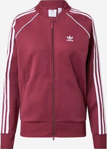 ADIDAS ORIGINALS Sweat jacket in Red