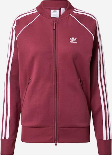 ADIDAS ORIGINALS Bluza rozpinana w kolorze burgund / białym, Podgląd produktu