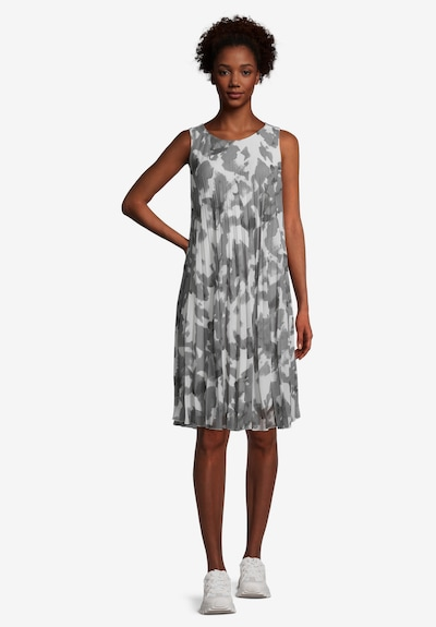 Cartoon Dress in Grey / White, View model
