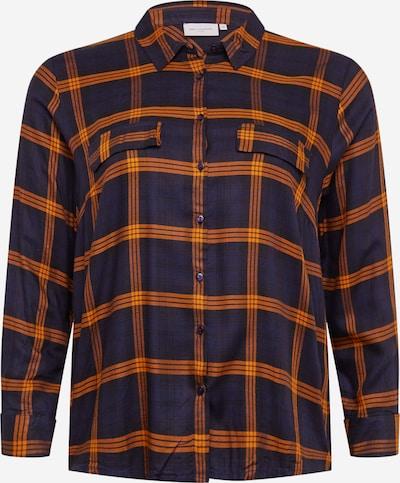 ONLY Carmakoma Bluse in nachtblau / braun, Produktansicht