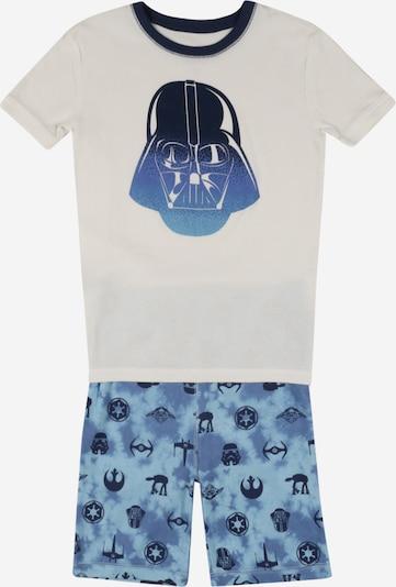 Pijamale 'VADER' GAP pe albastru / albastru fumuriu / alb murdar, Vizualizare produs
