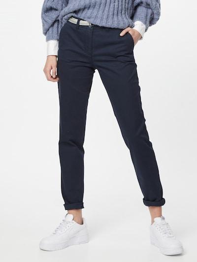 TOM TAILOR Pantalon chino en bleu foncé, Vue avec modèle
