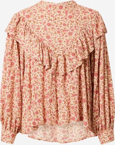 Line of Oslo Bluse 'Adele' in beige / pink / weiß, Produktansicht