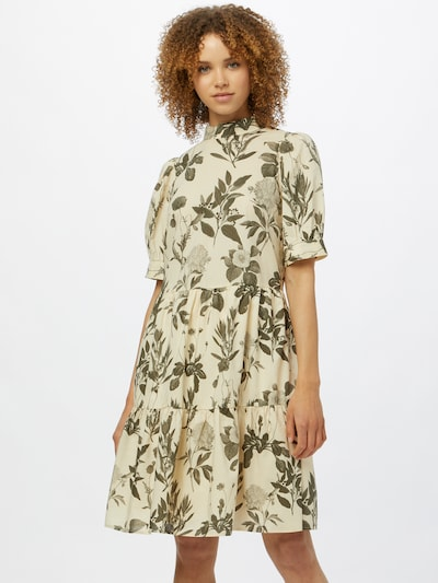 Marc O'Polo DENIM Kleid in beige / oliv, Modelansicht