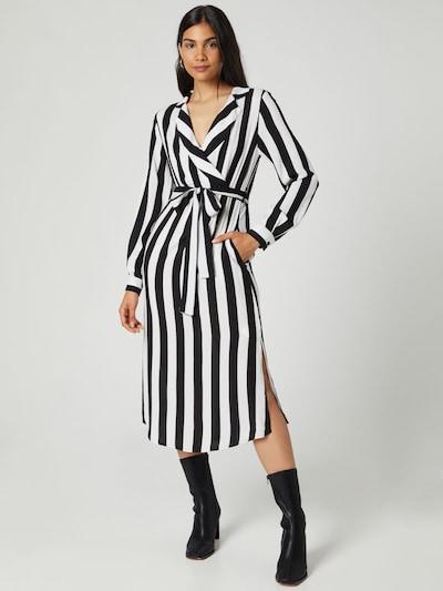 Rochie tip bluză 'Denise' Guido Maria Kretschmer Collection pe negru / alb, Vizualizare model