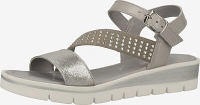 MARCO TOZZI Sandale in grau / silber, Produktansicht